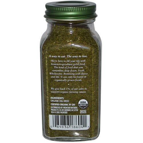 Simply Organic, Dill Weed, 0.81 oz (23 g) فوائد