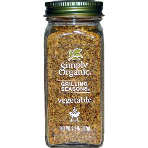 Simply Organic, Grilling Seasons, Vegetable, Organic, 2.2 oz (62 g) فوائد