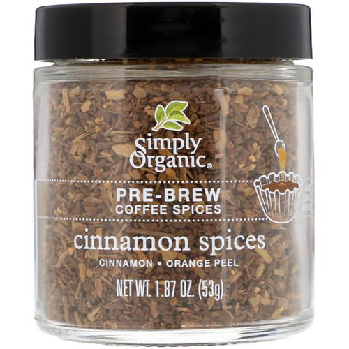 Simply Organic, Pre-Brew Coffee Spice, Cinnamon Spices, 1.87 oz (53 g) فوائد