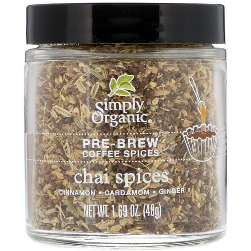 Simply Organic, Pre-Brew Coffee Spices, Chai Spices, 1.69 oz (48 g) فوائد