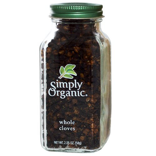 Simply Organic, Whole Cloves, 2.05 oz (58 g) فوائد
