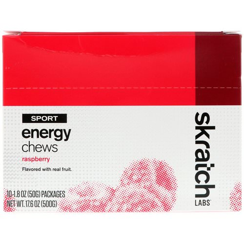 SKRATCH LABS, Sport Energy Chews, Raspberry, 10 Pack, 1.8 oz (50 g) Each فوائد