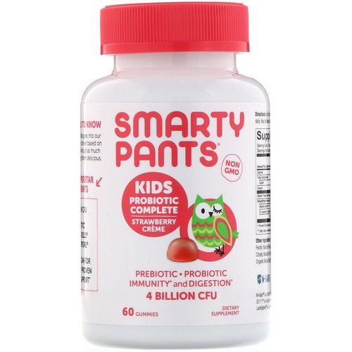 SmartyPants, Kids Probiotic Complete, Strawberry Creme, 60 Gummies فوائد