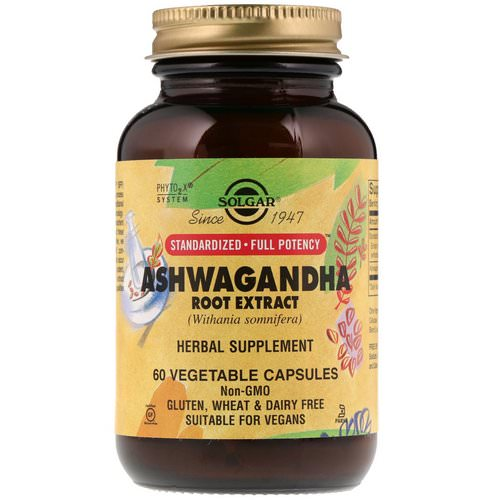 Solgar, Ashwagandha Root Extract, 60 Vegetable Capsules فوائد