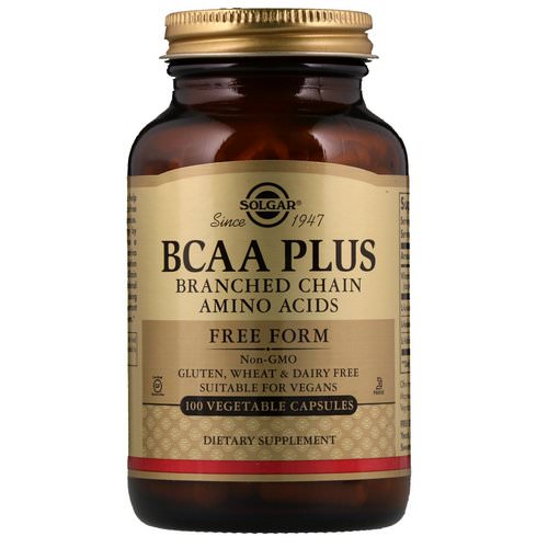 Solgar, BCAA Plus, Free Form, 100 Vegetable Capsules فوائد
