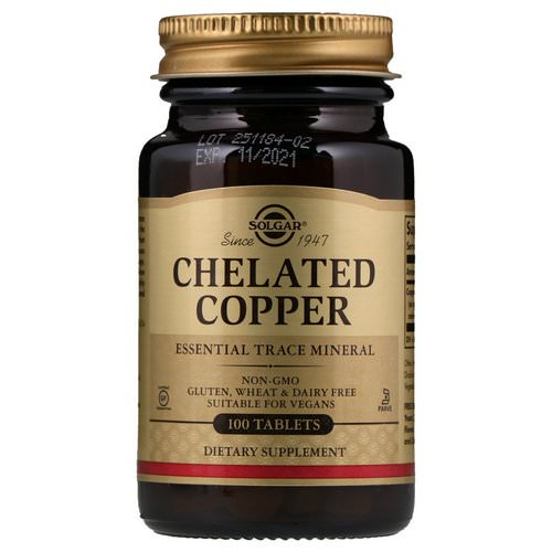 Solgar, Chelated Copper, 100 Tablets فوائد