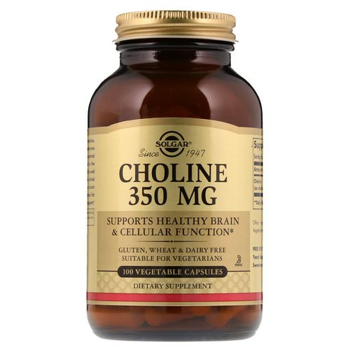 Solgar, Choline, 350 mg, 100 Vegetable Capsule فوائد