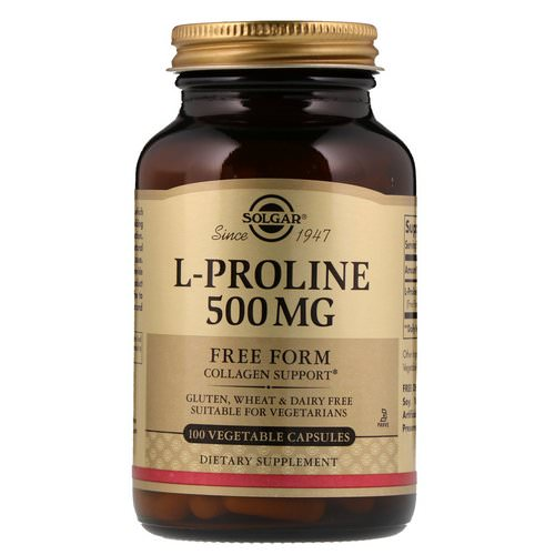 Solgar, L-Proline, 500 mg, 100 Vegetable Capsules فوائد