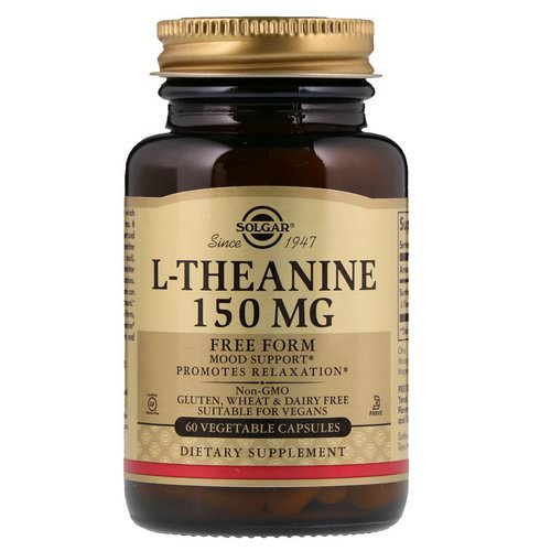Solgar, L-Theanine, Free Form, 150 mg, 60 Vegetable Capsules فوائد