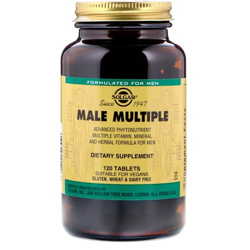 Solgar, Male Multiple, 120 Tablets فوائد