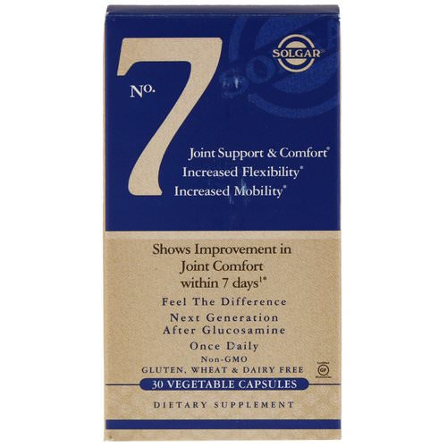 Solgar, No. 7, Joint Support & Comfort, 30 Vegetable Capsules فوائد