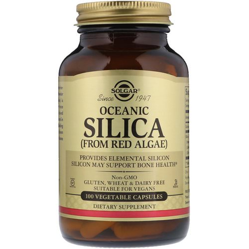 Solgar, Oceanic Silica From Red Algae, 100 Vegetable Capsules فوائد