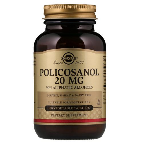 Solgar, Policosanol, 20 mg, 100 Vegetable Capsules فوائد