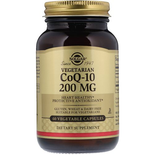 Solgar, Vegetarian CoQ-10, 200 mg, 60 Vegetable Capsules فوائد