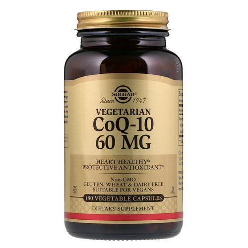 Solgar, Vegetarian CoQ-10, 60 mg, 180 Vegetable Capsules فوائد