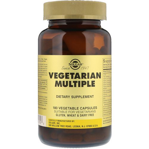 Solgar, Vegetarian Multiple, 180 Vegetable Capsules فوائد