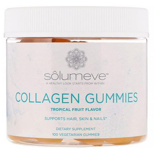 Solumeve, Collagen Gummies, Gelatin Free, Tropical Fruit Flavor, 100 Vegetarian Gummies فوائد