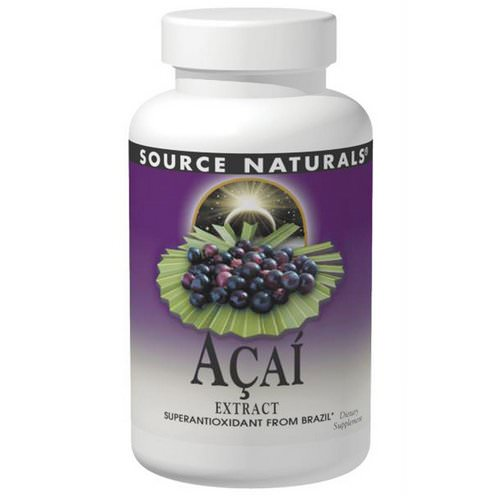 Source Naturals, Acai Extract, 500 mg, 120 Capsules فوائد