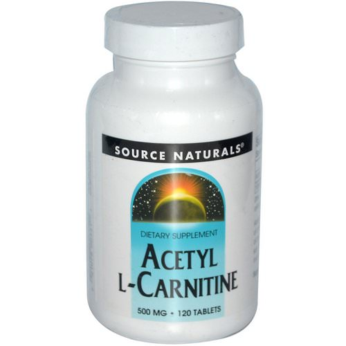 Source Naturals, Acetyl L-Carnitine, 500 mg, 120 Tablets فوائد
