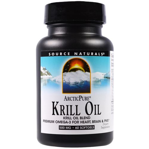 Source Naturals, ArcticPure, Krill Oil, 500 mg, 60 Softgels فوائد