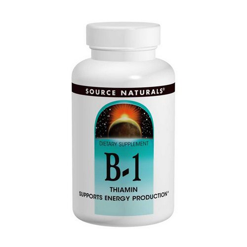 Source Naturals, B-1, Thiamin, 100 mg, 100 Tablets فوائد
