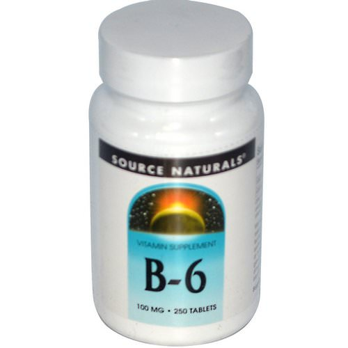 Source Naturals, B-6, 100 mg, 250 Tablets فوائد