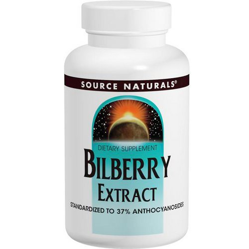 Source Naturals, Bilberry Extract, 50 mg, 120 Tablets فوائد