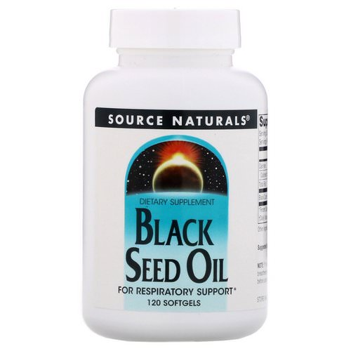 Source Naturals, Black Seed Oil, 120 Softgels فوائد