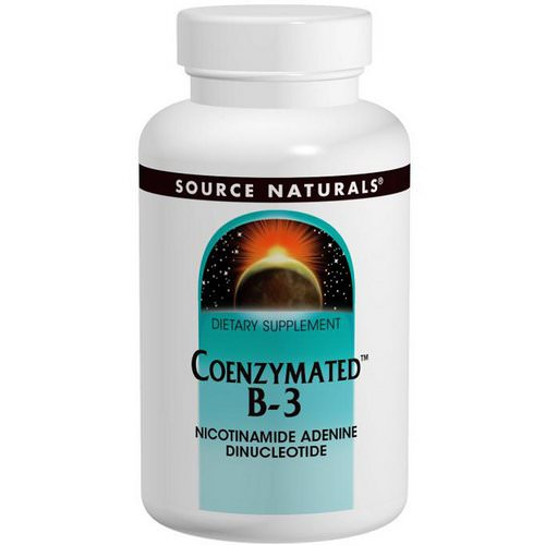 Source Naturals, Coenzymated B-3, Sublingual, 25 mg, 60 Tablets فوائد