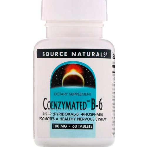 Source Naturals, Coenzymated B-6, 100 mg, 60 Tablets فوائد