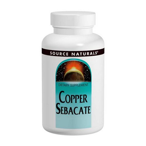 Source Naturals, Copper Sebacate, 22 mg, 120 Tablets فوائد