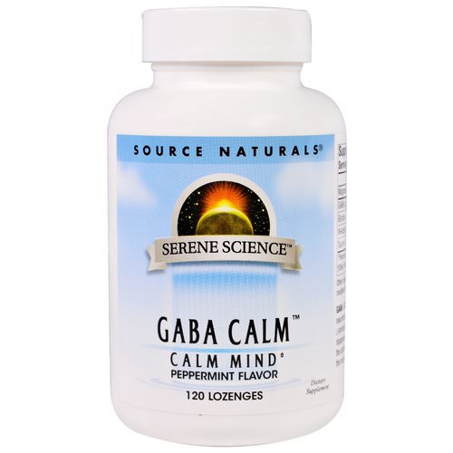 Source Naturals, GABA Calm, Peppermint Flavor, 120 Lozenges فوائد