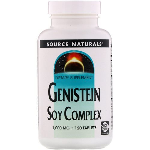 Source Naturals, Genistein Soy Complex, 1,000 mg, 120 Tablets فوائد