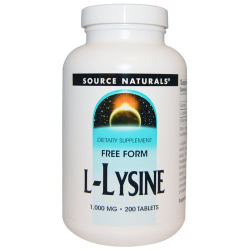 Source Naturals, L-Lysine, 1,000 mg, 200 Tablets فوائد