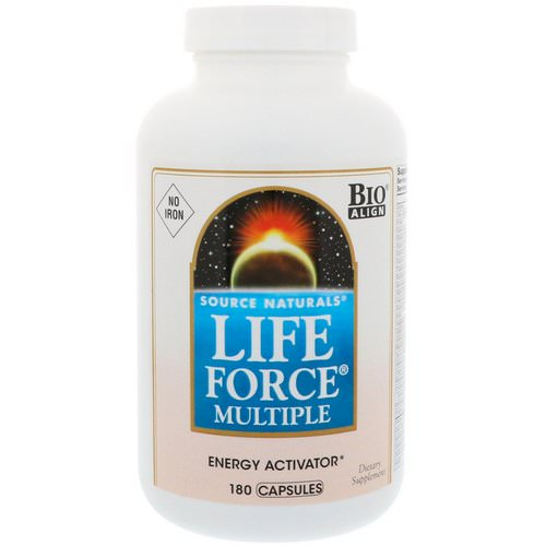 Source Naturals, Life Force Multiple, No Iron, 180 Capsules فوائد