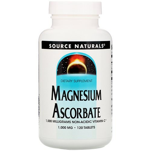 Source Naturals, Magnesium Ascorbate, 1000 mg, 120 Tablets فوائد
