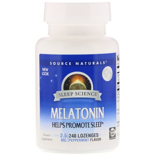 Source Naturals, Melatonin, Peppermint, 2.5 mg, 240 Lozenges فوائد
