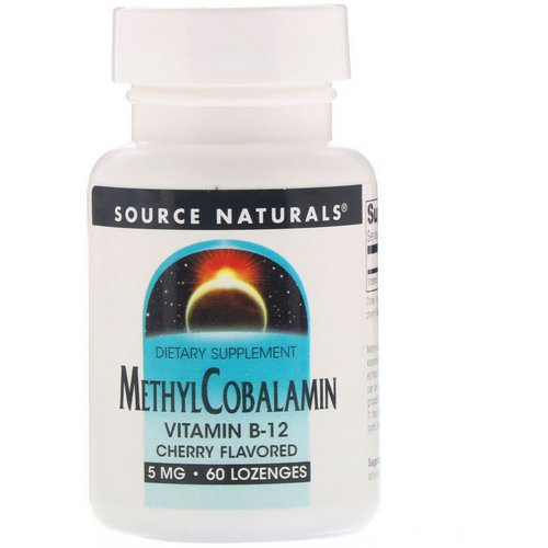 Source Naturals, MethylCobalamin, Vitamin B12, Cherry Flavored, 5 mg, 60 Lozenges فوائد