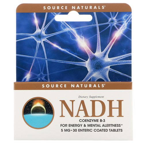 Source Naturals, NADH, CoEnzyme B-3, 5 mg, 30 Tablets فوائد