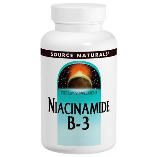 Source Naturals, Niacinamide B-3, 100 mg, 250 Tablets فوائد