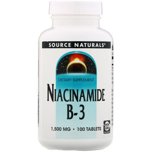 Source Naturals, Niacinamide, B-3, 1,500 mg, 100 Tablets فوائد