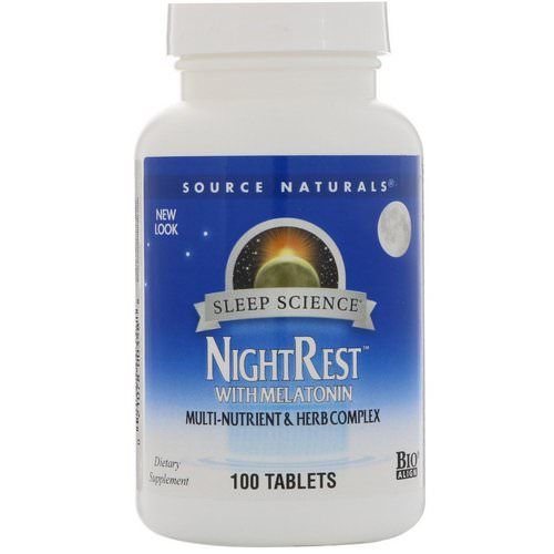 Source Naturals, NightRest With Melatonin, 100 Tablets فوائد