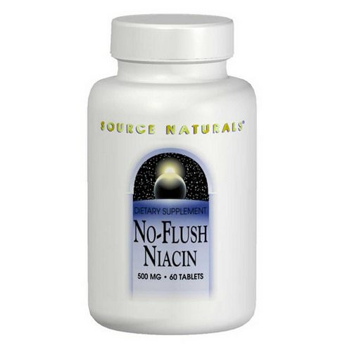 Source Naturals, No-Flush Niacin, 500 mg, 60 Tablets فوائد