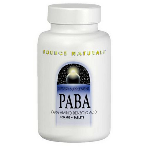 Source Naturals, PABA, 100 mg, 250 Tablets فوائد