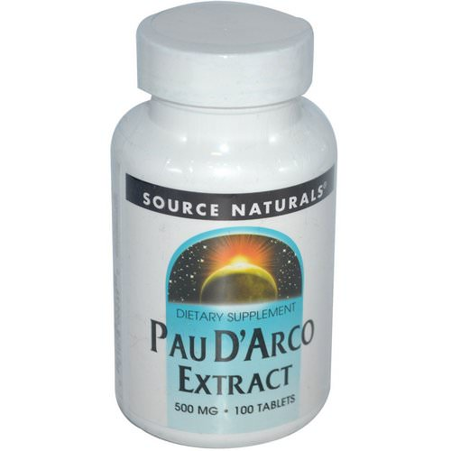 Source Naturals, Pau D'Arco Extract, 500 mg, 100 Tablets فوائد