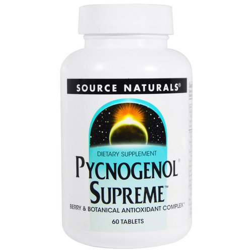 Source Naturals, Pycnogenol Supreme, 60 Tablets فوائد