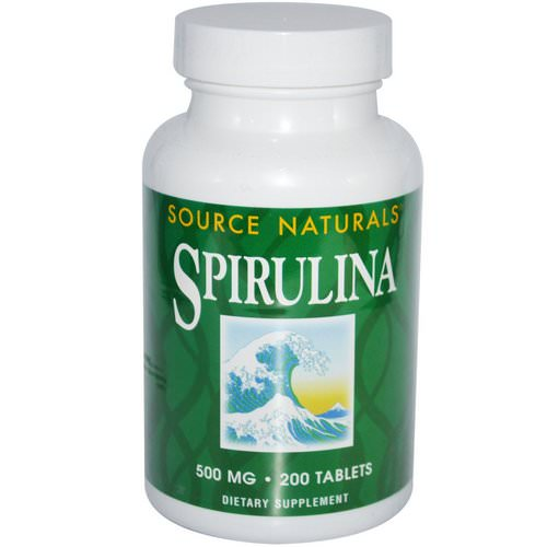 Source Naturals, Spirulina, 500 mg, 200 Tablets فوائد