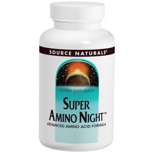 Source Naturals, Super Amino Night, 240 Tablets فوائد