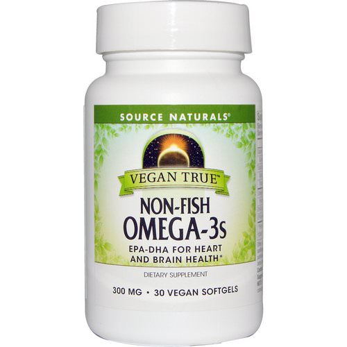 Source Naturals, Vegan True, Non-Fish Omega-3s, 300 mg, 30 Vegan Softgels فوائد