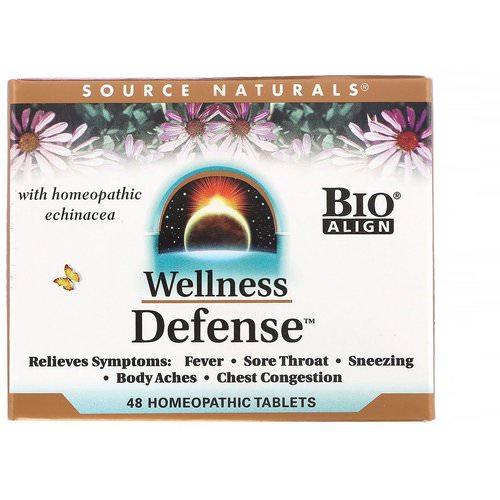 Source Naturals, Wellness Defense, 48 Homeopathic Tablets فوائد